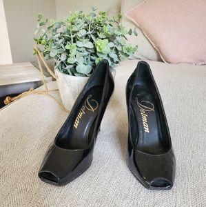 Authentic Delman peep toe heels size 5M 35